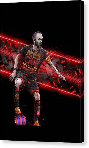 Andres Iniesta Canvas Print - Control Pass And Repeat by Akyanyme