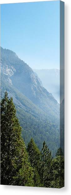 1 Of 4 Controlled Burn Of Yosemite Section Canvas Print