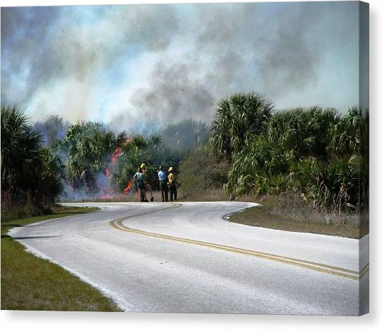 Controlled Burn Canvas Print by Peter  McIntosh