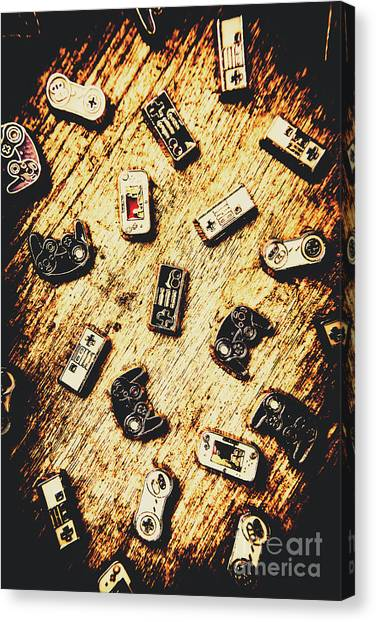 Arcade Games Canvas Print - Controllers Of Retro Gaming by Jorgo Photography - Wall Art Gallery