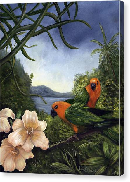 Canvas Print - Conures by Anne Kushnick