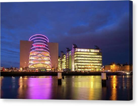 Convention Centre Dublin And Pwc Building In Dublin, Ireland Canvas Print