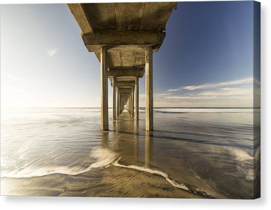 Ocean Sunsets Canvas Print - Convergence by Peter Irwindale