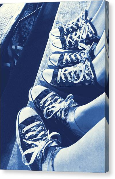 Converse Blues Canvas Print by JAMART Photography