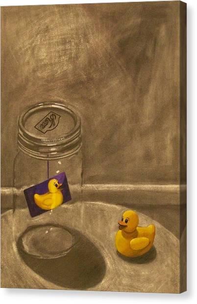 Conversing Ducks Canvas Print