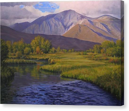 Convict Creek-eastern Sierras Canvas Print by Joe Mancuso