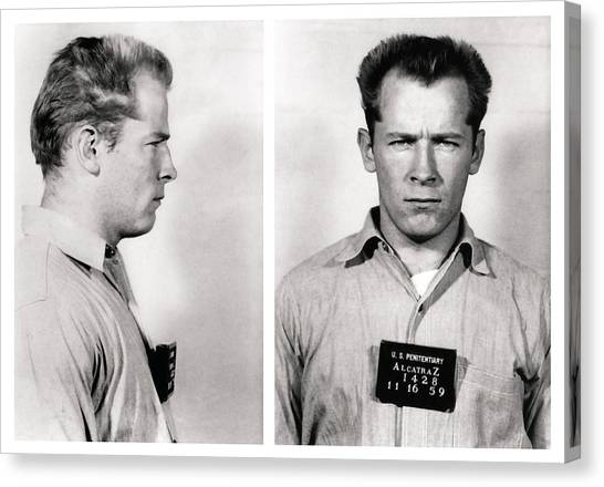Southie Canvas Print - Convict No. 1428 - Whitey Bulger - Alcatraz 1959 by Daniel Hagerman