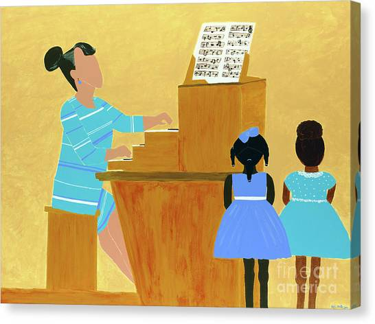 Teachers Canvas Print - Convocation by Kafia Haile