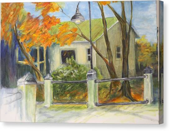 Conway Fish House Canvas Print by Sandra Taylor-Hedges