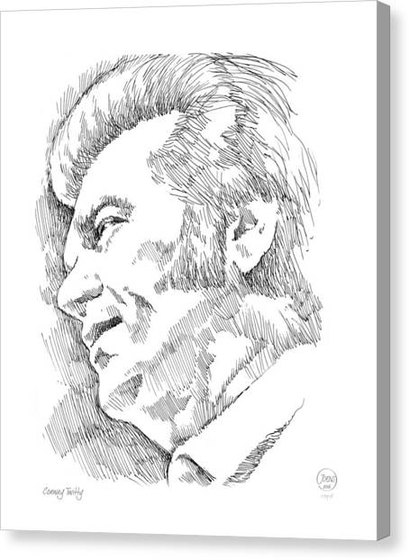 Rhythm And Blues Canvas Print - Conway Twitty by Greg Joens