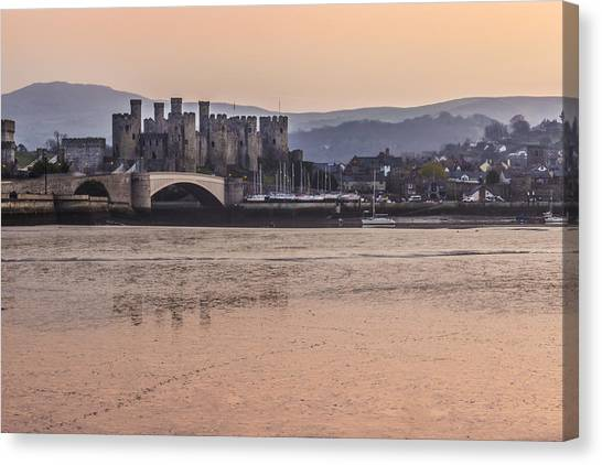 Conwy Castle Canvas Print - Conwy Harbour At Dusk by Paul Madden