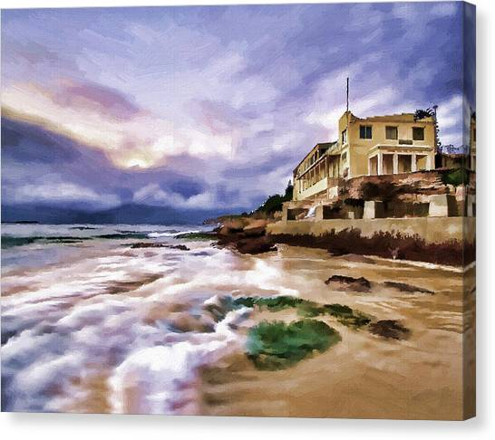 Coogee Beach Canvas Print by Alex Zolotar