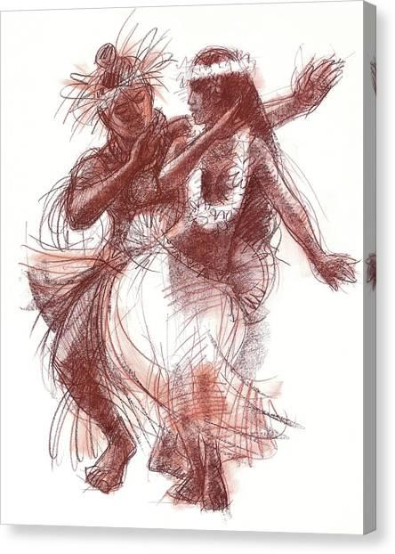 Cook Islands Pas-de-deux Canvas Print