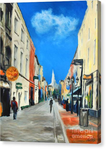 Cook Street   Cork Ireland Canvas Print by Anne Marie ODriscoll