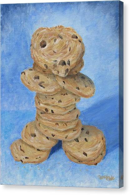 Canvas Print featuring the painting Cookie Monster by Nancy Nale