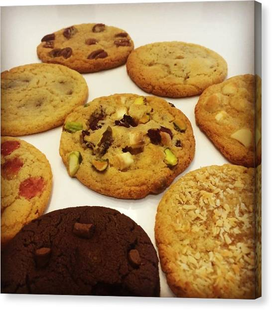 Meals Canvas Print - Cookie Range Coming Along Nicely by Scoff Cakes
