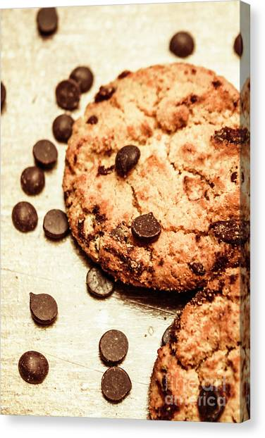 Biscuits Canvas Print - Cookies With Chocolare Chips by Jorgo Photography - Wall Art Gallery