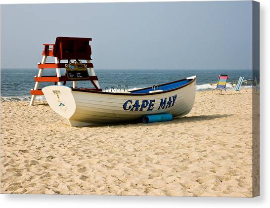 Cool Cape May Beach Canvas Print