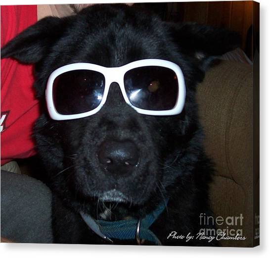 Cool Dude Odie Canvas Print