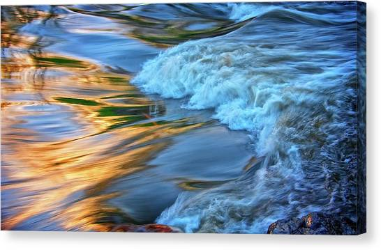 Cool Liquid Gold Canvas Print