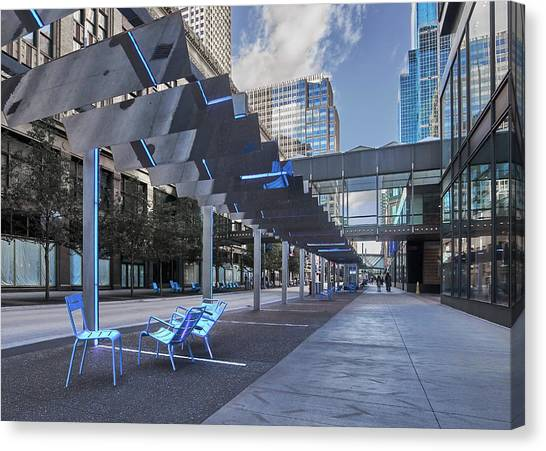 Mall Canvas Print - Cool New Nicollet Mall by Jim Hughes