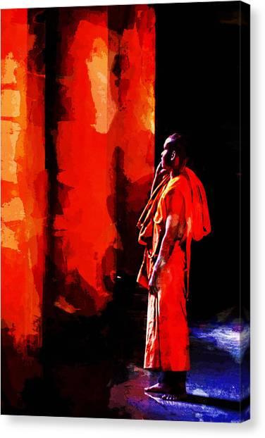 Cool Orange Monk Canvas Print