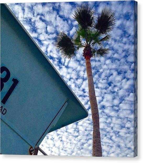 Lifeguard Canvas Print - Cool Sky.  by Go Inspire Beauty
