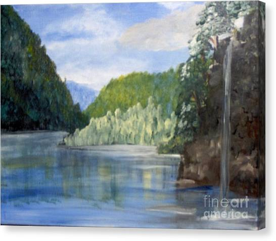 Canvas Print featuring the painting Cool Water by Saundra Johnson
