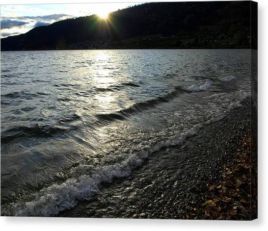 Oyama Canvas Print - Cool Waters Sunset by Will Borden