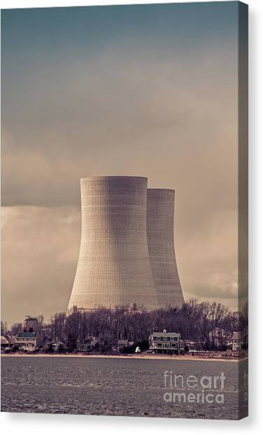 Nuclear Plants Canvas Print - Cooling Towers by Edward Fielding