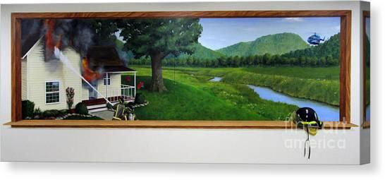 Medivac Canvas Print - Coon Valley Fire Mural by Sarah Pederson