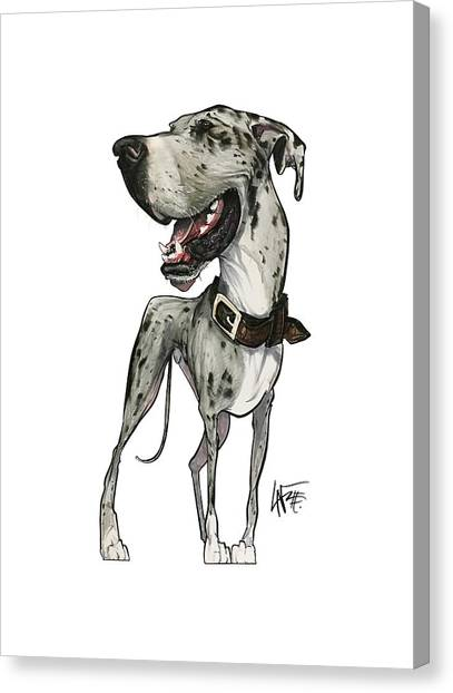 Great Danes Canvas Print - Cooper 3636 by John LaFree