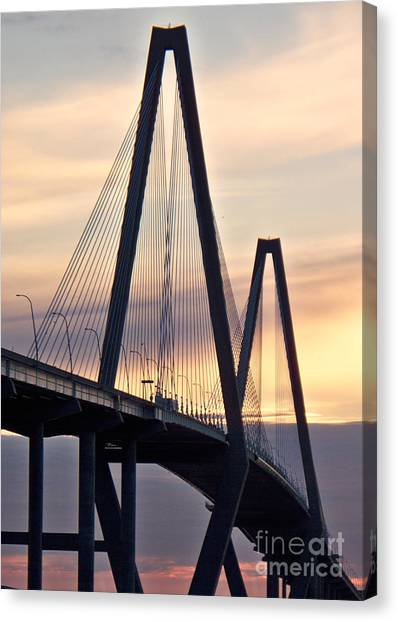 Cooper River Bridge Canvas Print by Melanie Snipes