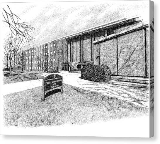 Ball State University Canvas Print - Cooper Science Building, Ball State University, Muncie, Indiana by Stephanie Huber