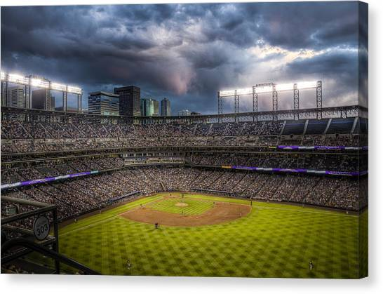 Colorado Rockies Canvas Print - Coors Field Mood by Jessica Brooks