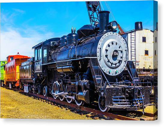 Caboose Canvas Print - Coos Bay Lumber Company Train 104 by Garry Gay