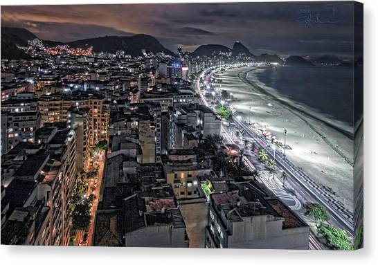Copacabana Lights Canvas Print