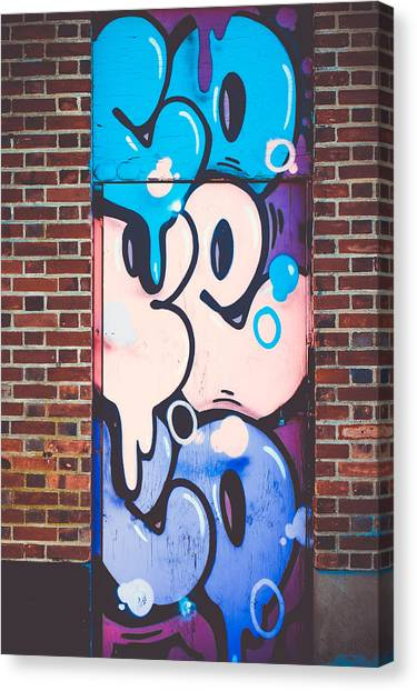 Graffiti Walls Canvas Print - Cope by Colleen Kammerer