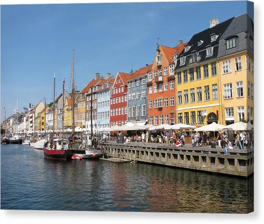 Copenhagen Harbor Canvas Print by Mary Lane
