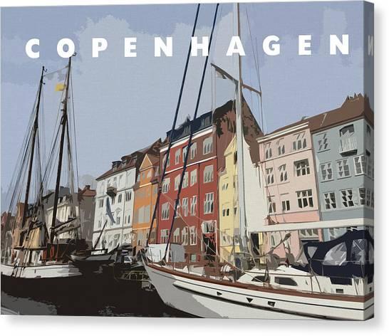 Wedding Gift Canvas Print - Copenhagen Memories by Linda Woods