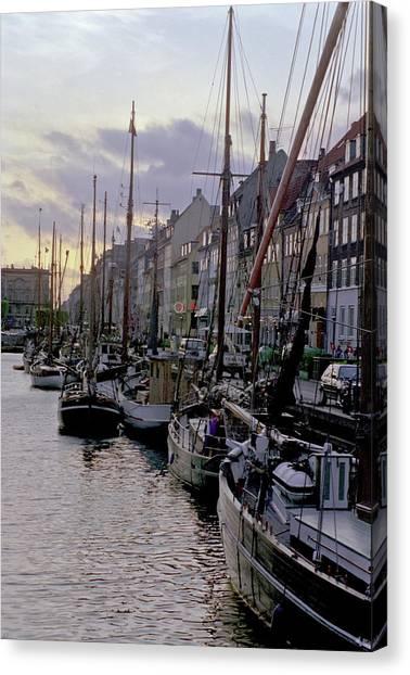 Copenhagen Quay Canvas Print