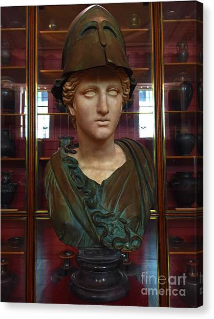 Chape Canvas Print - Copper Bust In Rome by Doc Braham
