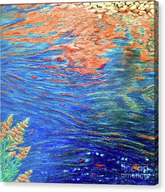 Copper Flow Canvas Print