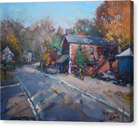 Georgetown University Canvas Print - Copper Kettle Pub In Glen Williams On by Ylli Haruni