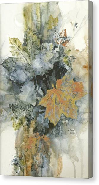 Copper Leaves Canvas Print