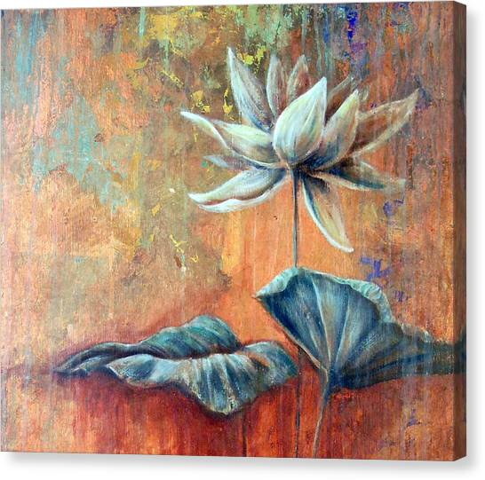 Copper Lotus Canvas Print