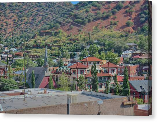 Canvas Print featuring the photograph Copper Queen Hotel by Dan McManus