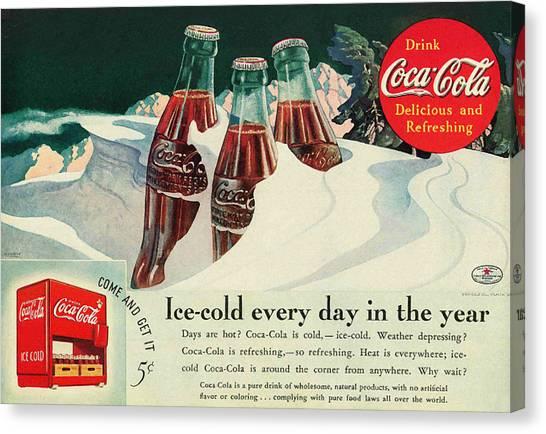 Copy Of A 1925 Coca Cola Ad Canvas Print