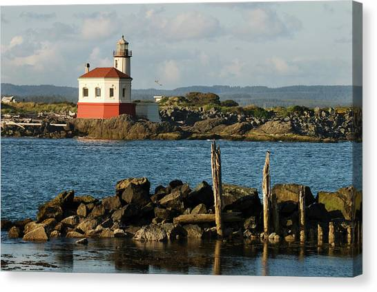 Coquille River Lighthouse Bandon Oregon Canvas Print