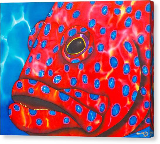 Coral Groupper II Canvas Print